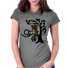 Colorful Owl in Tree Tribal Art Womens Fitted T-Shirt