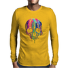 Colorful Painted Trippy Gothic Melting Mens Long Sleeve T-Shirt