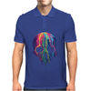 Colorful Painted Trippy Gothic Melting Mens Polo