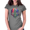 Colorful Painted Trippy Gothic Melting Womens Fitted T-Shirt