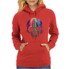 Colorful Painted Trippy Gothic Melting Womens Hoodie