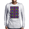Colorful Psychedelic Pattern - Blue 2 Mens Long Sleeve T-Shirt
