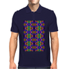 Colorful Psychedelic Pattern - Blue 2 Mens Polo