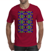 Colorful Psychedelic Pattern - Blue 2 Mens T-Shirt