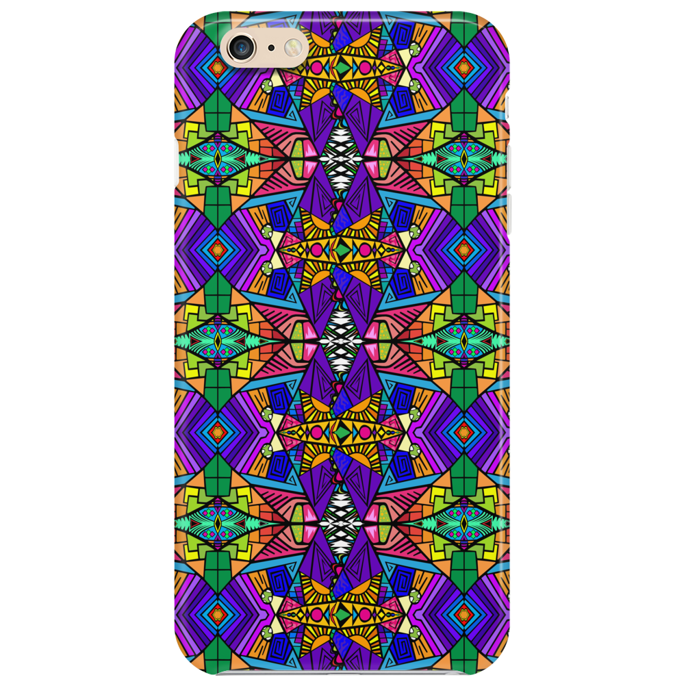 Colorful Psychedelic Pattern - Blue 2 Phone Case