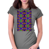 Colorful Psychedelic Pattern - Blue 2 Womens Fitted T-Shirt