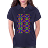 Colorful Psychedelic Pattern - Blue 2 Womens Polo
