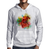 Colorful Racehorse in Typography Mens Hoodie