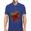 Colorful Racehorse in Typography Mens Polo