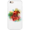 Colorful Racehorse in Typography Phone Case