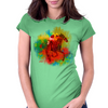 Colorful Racehorse in Typography Womens Fitted T-Shirt