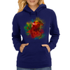 Colorful Racehorse in Typography Womens Hoodie