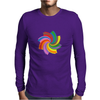 Colorful spiral Mens Long Sleeve T-Shirt