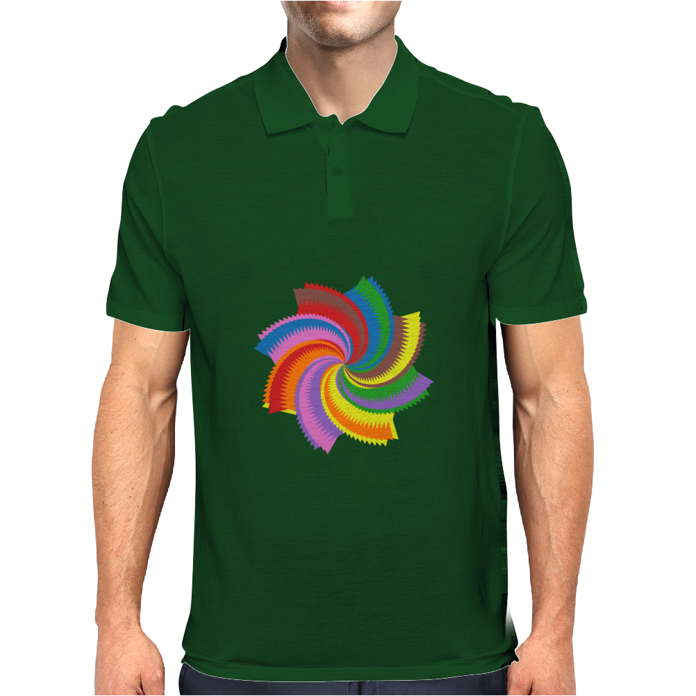 Colorful spiral Mens Polo