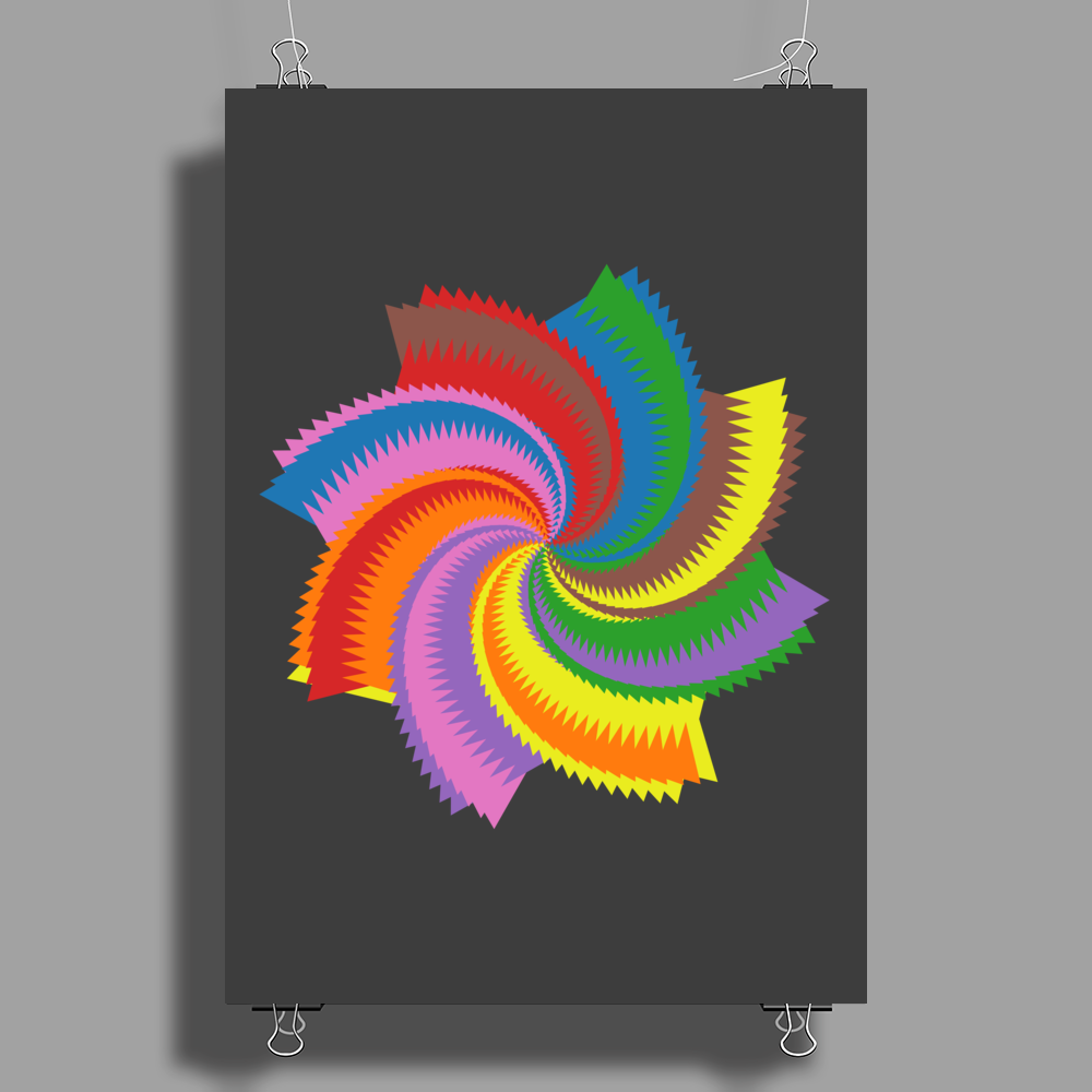 Colorful spiral Poster Print (Portrait)