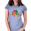 Colorful spiral Womens Fitted T-Shirt