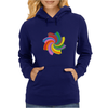 Colorful spiral Womens Hoodie