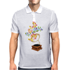 Colors by music - retro music player Mens Polo