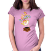 Colors by music - retro music player Womens Fitted T-Shirt