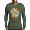 colours of summer flowers summer love butterflies butterfly Mens Long Sleeve T-Shirt
