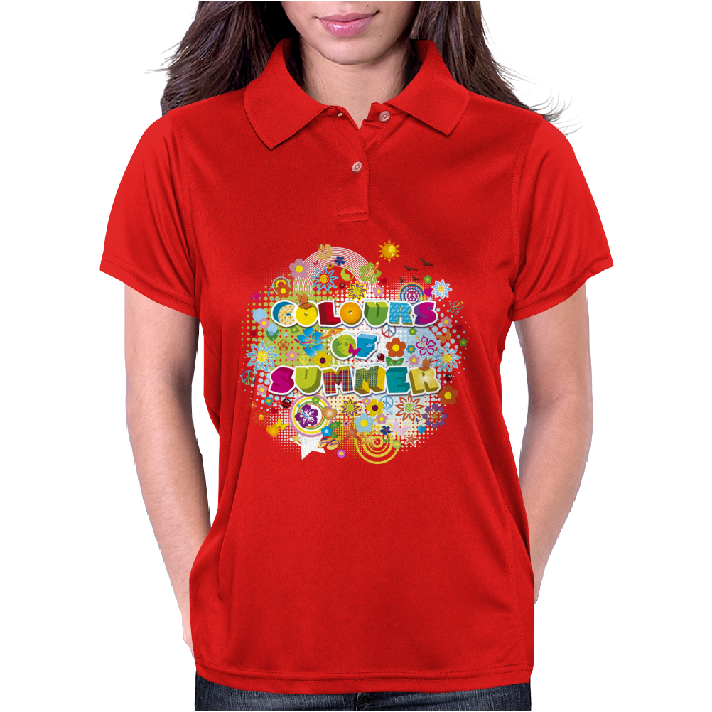 colours of summer flowers summer love butterflies butterfly Womens Polo