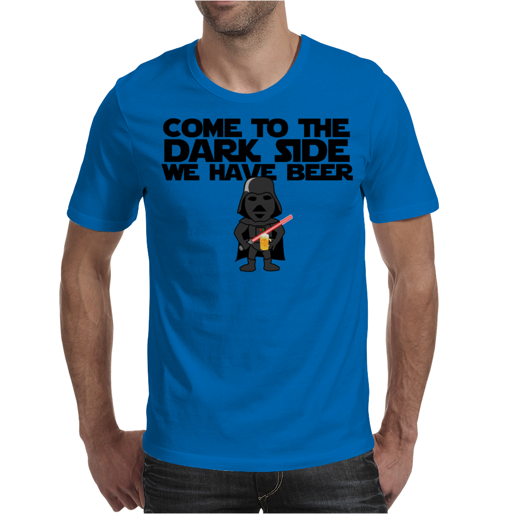 Come To The Dark Side We Have Beer - Star Wars - Graphic - Darth Vader Graphic Mens T-Shirt