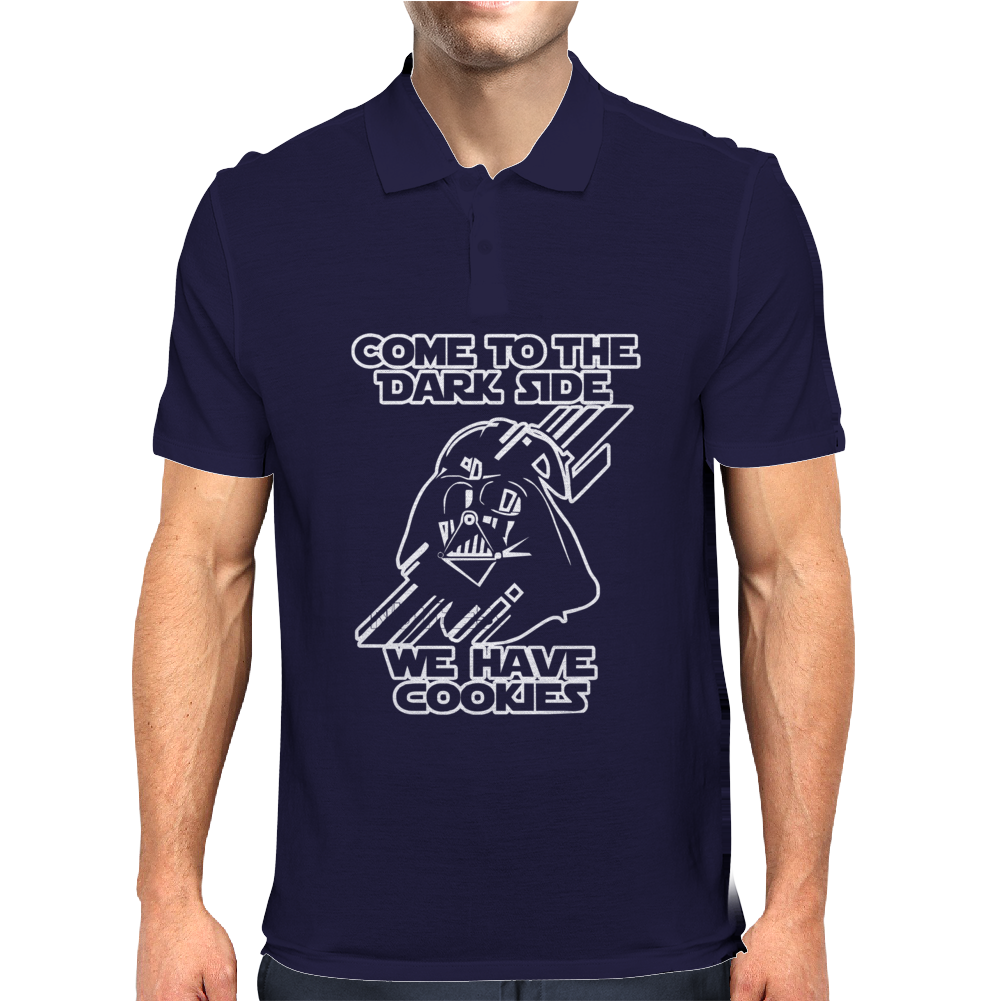 Come To The Dark Side We Have Cookies Funny Mens Polo