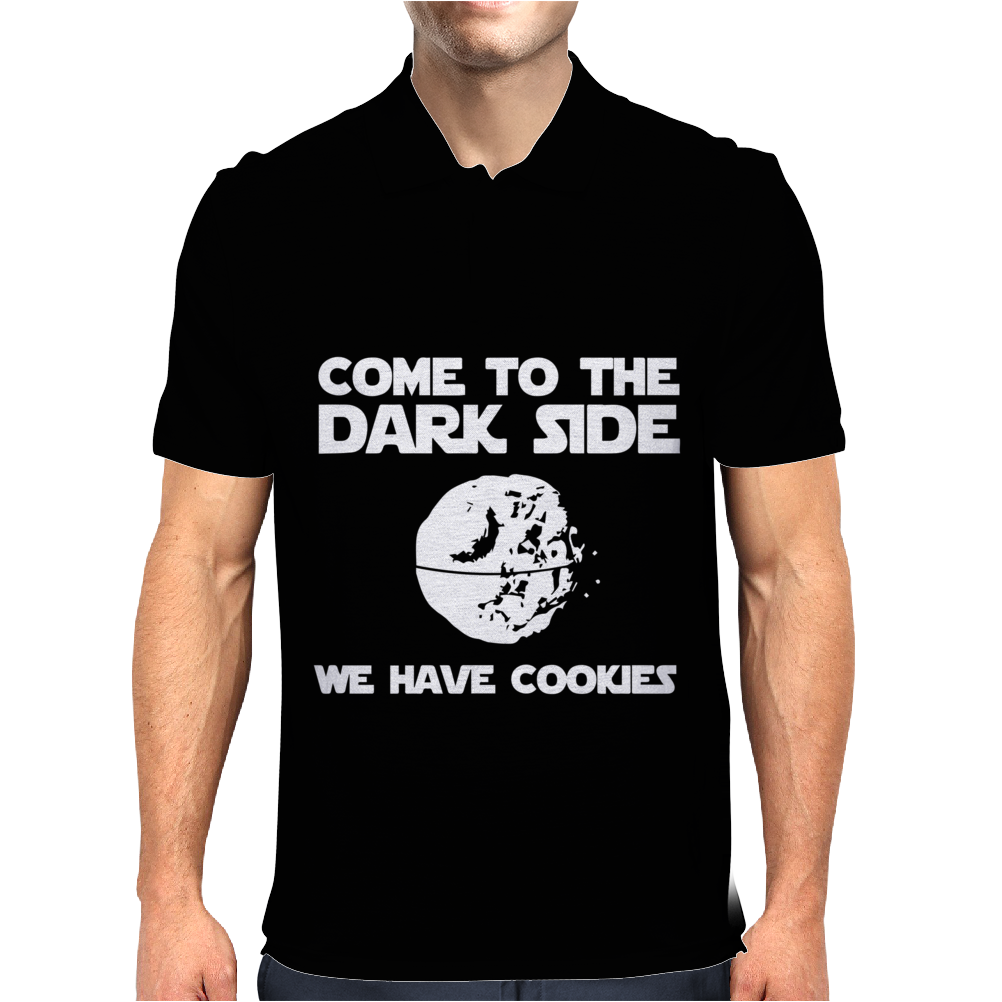 Come To The Dark Side We Have Cookies Mens Polo