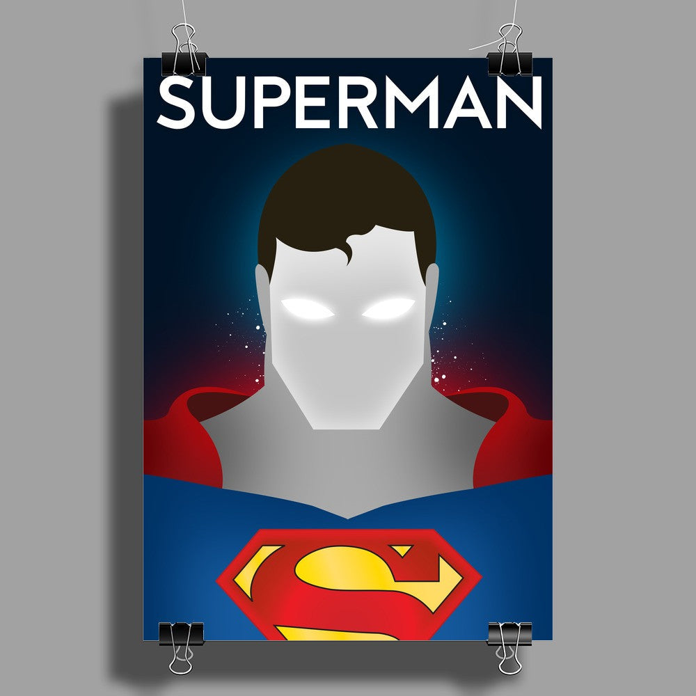 Superman Superhero Print Wall Art (Portrait)