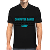 Computer Games - aqua / blk Mens Polo