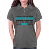 Computer Games - aqua / blk Womens Polo