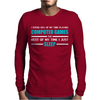 Computer Games - aqua / wht Mens Long Sleeve T-Shirt