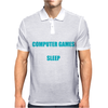 Computer Games - aqua / wht Mens Polo
