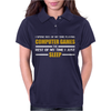 Computer Games - gold / wht Womens Polo