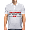 Computer Games - red / blk Mens Polo