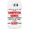 Computer Games - red / blk Phone Case