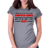 Computer Games - red / blk Womens Fitted T-Shirt