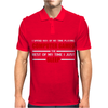 Computer Games - red / wht Mens Polo