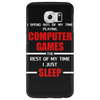 Computer Games - red / wht Phone Case