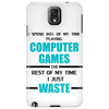 Computer Gaming - aqua / blk Phone Case