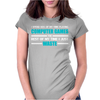 Computer Gaming - aqua / wht Womens Fitted T-Shirt