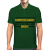 Computer Gaming - gold / blk Mens Polo