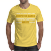 Computer Gaming - Gold / Wht Mens T-Shirt