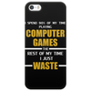 Computer Gaming - Gold / Wht Phone Case