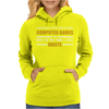 Computer Gaming - Gold / Wht Womens Hoodie