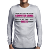 Computer Gaming - Maroon / blk Mens Long Sleeve T-Shirt