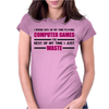 Computer Gaming - Maroon / blk Womens Fitted T-Shirt