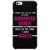 Computer Gaming Maroon / Wht Phone Case