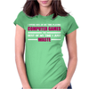 Computer Gaming Maroon / Wht Womens Fitted T-Shirt