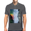 Contemplating the Waterfall Mens Polo